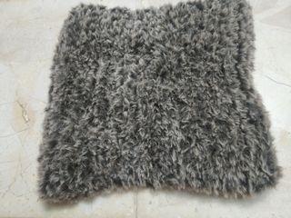 Cuello de lana hecho a mano Unisex marrón