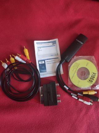 Conversor audio y video analógico a digital (VHS)
