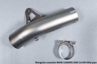 Manguito conexión BMW S1000RR 2009 14 HP4 Mid pipe