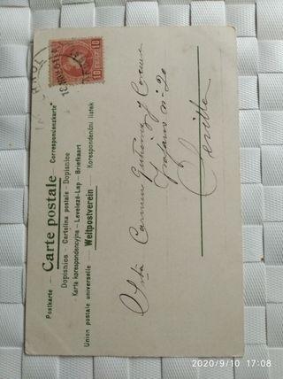 postal de 1901 con sello de Alfonso trece cadete
