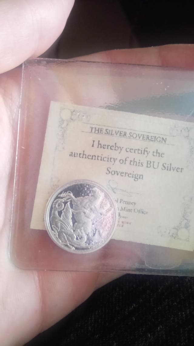 words first silver sovereign