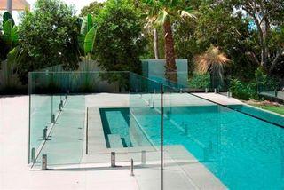 Valla policarbonato piscina rectangular
