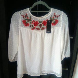 white new blouse