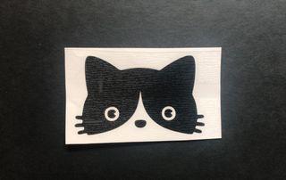 Pegatina silueta de gato