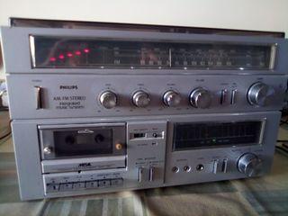 Cadena musical Philips años 80 vintage