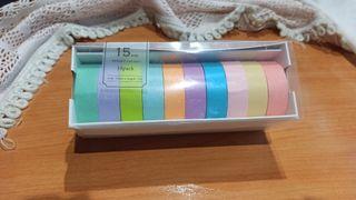 10 rollos Washi Tape MT colores, cinta adhesiva