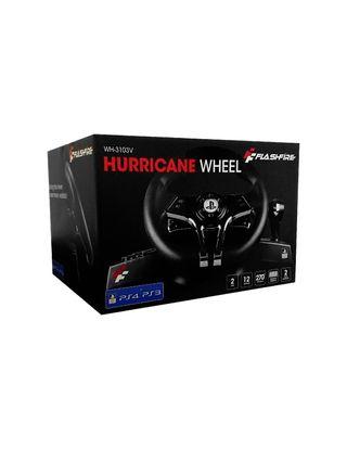 Volante y pedales hurricane