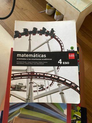Libro matemáticas 4 eso sm