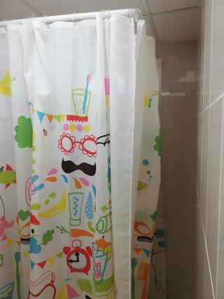 Cortina plástico ducha