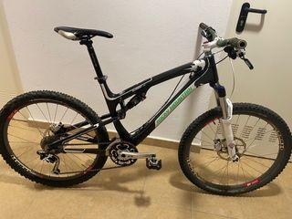 Bicicleta Doble Suspensión de Carbono