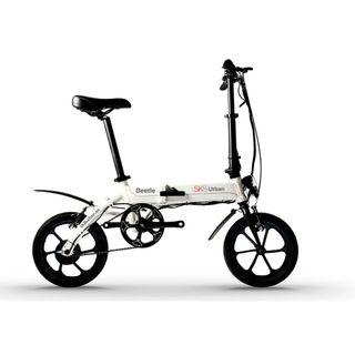 Urban Beetle Sk8 blanca. E-bike plegable