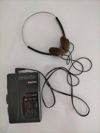 Walkman Sanyo MGR-905 (K) vintage con BassXpander