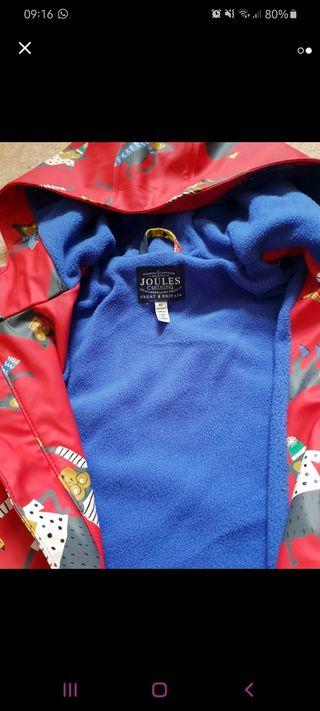 Joules fleece lined jacket age 9