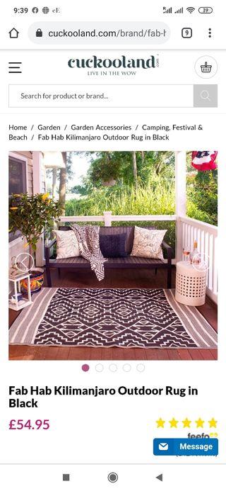 fab Hab indoor/outdoor rug - recyclable plastic