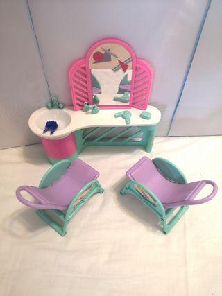 Muebles Salón de peluquería Barbie