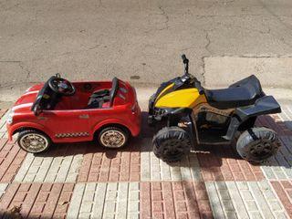 Quad y coche de bateria para niños