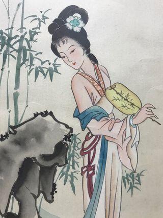 Dos cuadros dibujo japonés