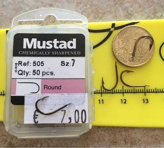 Caja 50 anzuelos Mustad 505 n7