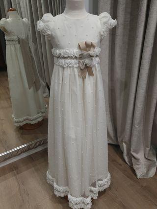 vestido de comunion romantico