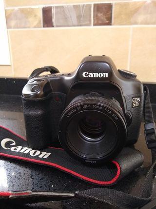 CANON 5D FULL FRAME + objetivo 50mm 1,8