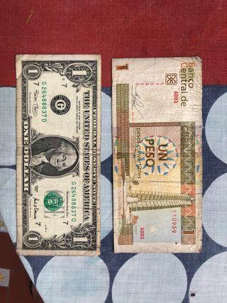 Dolar americano y peso cubano