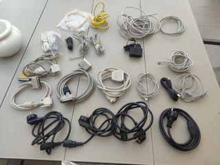 Lote cables red-alimentación-impresora-paralelo-