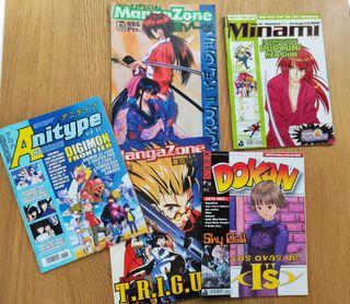 Revistas Manga - Anime (Lote de 5 revistas 15€)