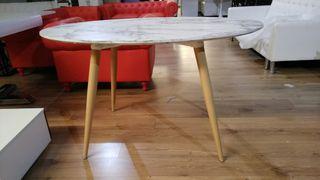 Mesa de comedor nórdica ovalada Sissi