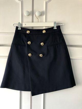 Falda marinera azul marino