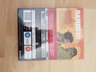 Rambo Part 3 Blu Ray STEELBOOK 4K ULTRA HD
