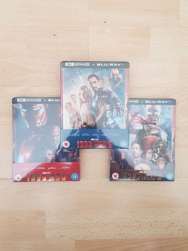 Iron Man 1/2/3 Blu Ray STEELBOOK 4K ULTRA HD