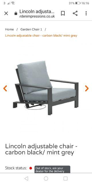 Garden recliner chair (NEW)