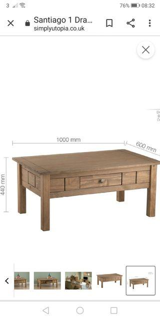 pine coffee table (NEW)