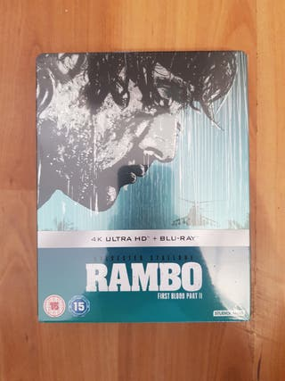 Rambo Part 2 Blu Ray STEELBOOK 4K ULTRA HD