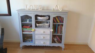 Mueble librería alacena restaurado infantil