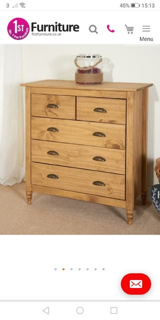 pine chest of drawers (NEW)