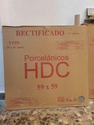 Gres porcelánico rectificado rebajado al 60%