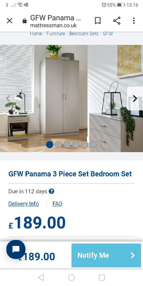 bedroom furniture set (NEW)