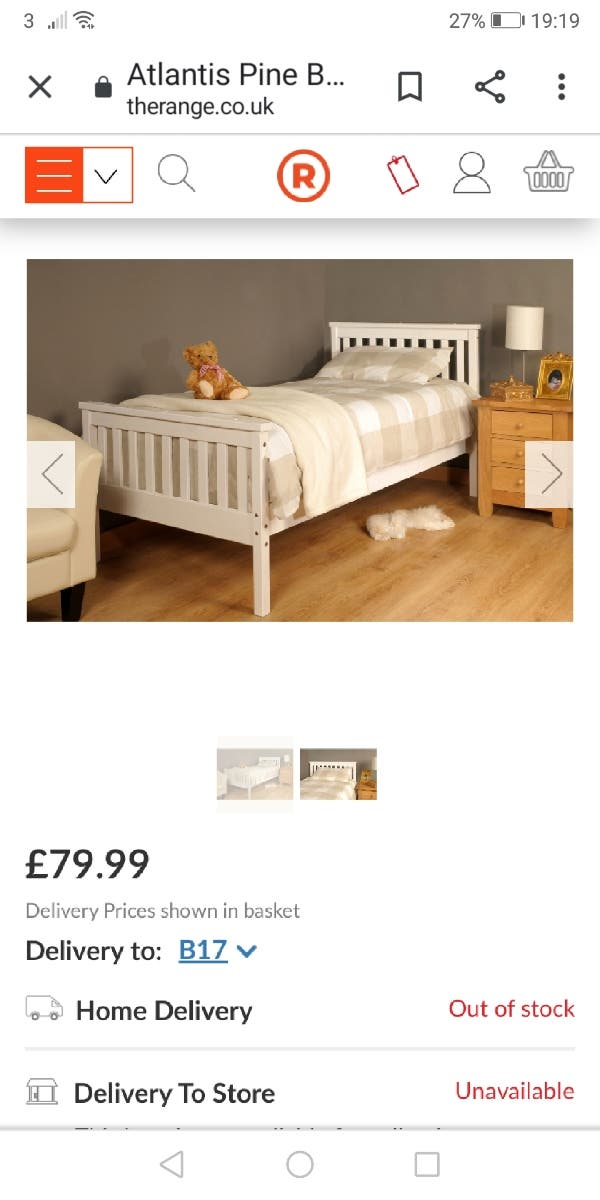 3ft single bed frame (NEW)