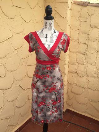 Vestido fiesta, estilo japonés