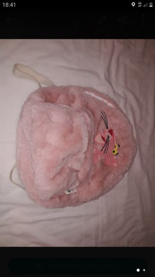 mochila NUEVA pelo pantera rosa niña mujer