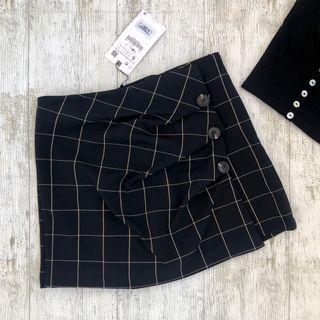 Falda Bermuda Cuadros Zara