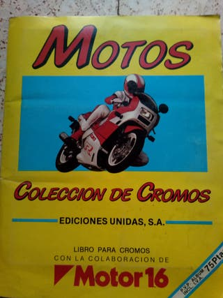 ALBUN DE CROMOS DE MOTOS MOTOR 16