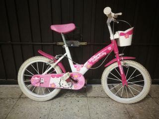 Bicicleta niña. Hello kitty