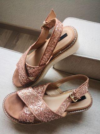Sandalias glitter 39