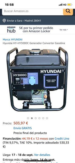Generador hyundai hy 3000 cestrenar