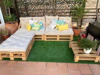 Sofá palets terraza