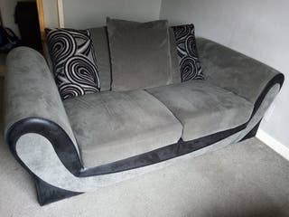 2x3 seater Shannon sofas with footstool