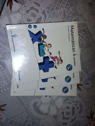 Libro de matemáticas para 4 de primaria