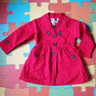 gabardina niña roja,abrigo,chaqueta